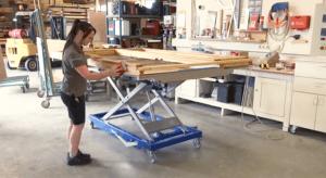 Hubtisch: Arbeitstisch von BARTH