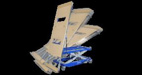 Der Hubtisch, Montage- und Arbeitstisch kippLIFT von BARTH - Leichtes Auf- und Abladen von langen und sperrigen Teilen.